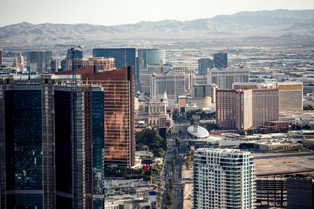 Luftaufnahme von Las Vegas Stratosphere fpom genommen