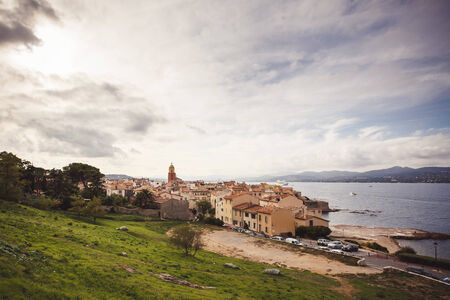 View of Saint Tropez, French Riviera, France photo