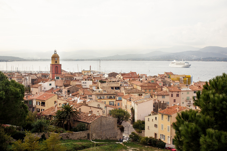 tropez: View of Saint Tropez, French Riviera, France Stock Photo