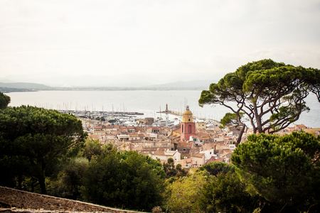 View of Saint Tropez, French Riviera, France Stock Photo