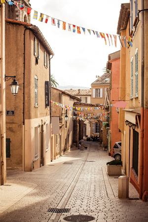 occurrence: View of street in Saint Tropez, French Riviera Stock Photo