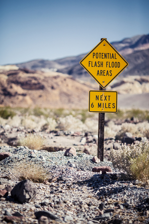 Road sign on Death Valley National Park, California photo