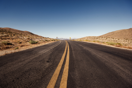 basin mountain: Road in Death Valley National Park, California
