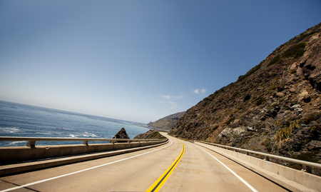 coasts: Route 1, also known as the Pacific Coast Highway Stock Photo