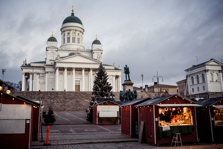 View of Helsinki Cathedral at morning in Finland