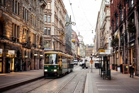 HELSINKI, FINLAND - 9 december 2013: Openbaar vervoer in Helsinki op 9 december 2013, Finland