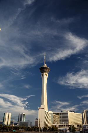 stratosphere: LAS VEGAS - JULY 29: Stratosphere hotel on July 29, 2012 in Las Vegas, Nevada. Stratosphere hotel is the tallest building in Las Vegas