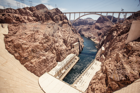 hydroelectric: Hoover Dam in the Black Canyon of the Colorado River, between the US states of Arizona and Nevada.