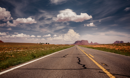 Long road to Monument Valley, USA photo