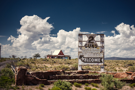 Arizona welcome sign on the Route 66, Arizona, USA photo