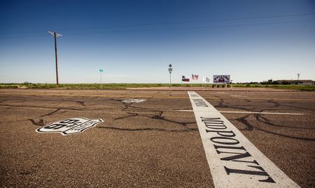 midway: The midway point along Route 66 in Adrian, Texas