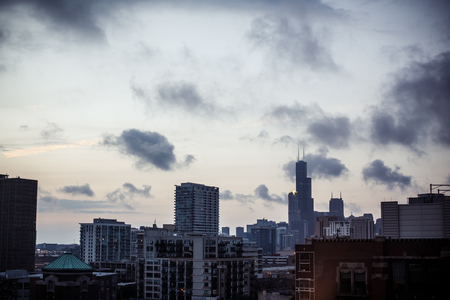 View of Downtown skyline, Chicago, Illinois, USA