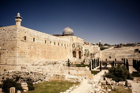 Western Wall Plaza, de Tempelberg, Jeruzalem Stockfoto