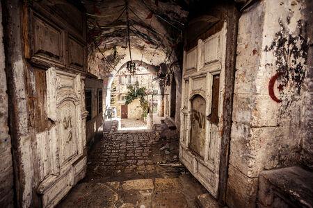 enclave: Alley in Jerusalem old city, Israel