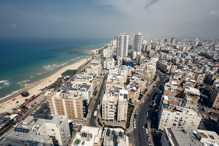Aerial view of Tel Aviv city, Israel