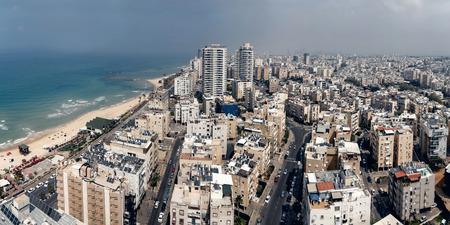 tel aviv: Aerial view of Tel Aviv city, Israel