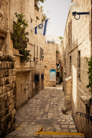 Streets of Old Jaffa District, Tel Aviv photo