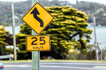 limitation: Road sign of the maximum speed limitation in the urban zone