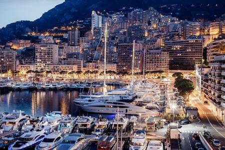 Monaco jachten Stockfoto