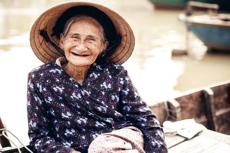 hue: Vietnamese street vendor in Hue, Vietnam Editorial