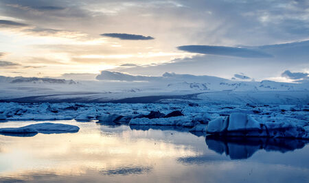 wilderness area: View of the glacier lagoon, Jokulsarlon, Iceland Stock Photo