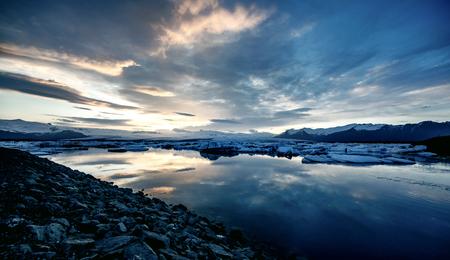jokulsarlon: View of the glacier lagoon, Jokulsarlon, Iceland Stock Photo