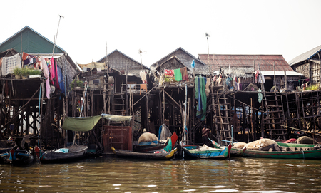 Kompong Phlok floating village photo