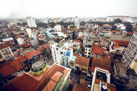 humidity: Hanoi view Stock Photo