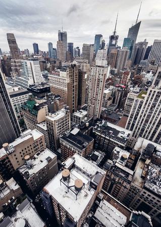 vysoký úhel pohledu: Město budovy v New Yorku Reklamní fotografie