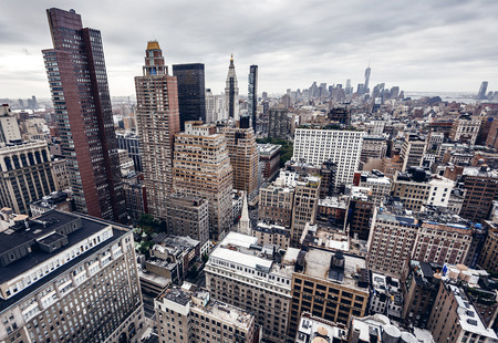 city scene: City buildings in New York Stock Photo