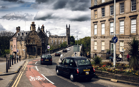 lothian: EDINBURGH, SCOTLAND - MAY 06, 2014: City view of Edinburgh. Edinburgh is the capital city and second most populous city in Scotland.