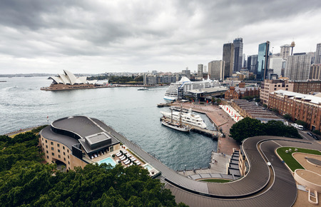 sydney harbour: View of Sydney Harbour Editorial