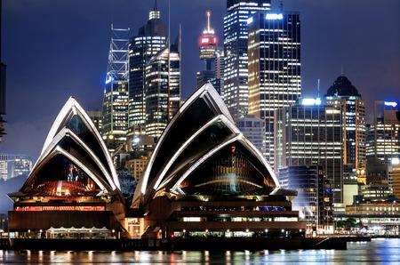 Vue du port de Sydney Éditoriale