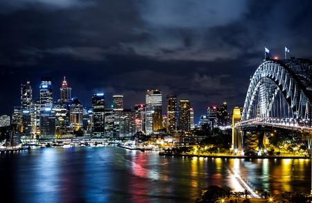 シドニー港と市街の建物 写真素材