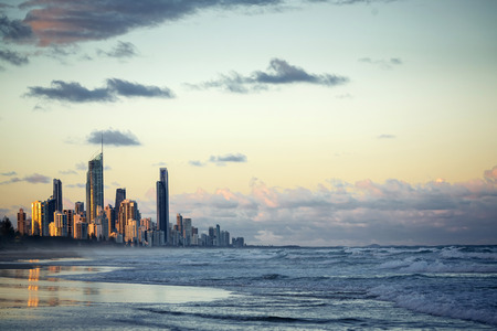 blue and gold: Gold Coast, Queensland, Australia