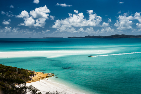 australia landscape: Whitehaven beach in Australia Stock Photo