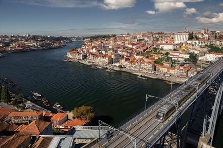 rowboats: Porto cityscape on the Douro River, Portugal
