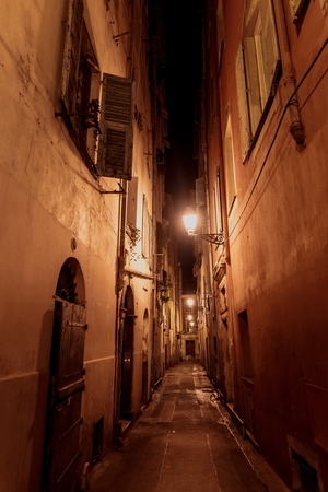 nice france: NICE, FRANCE - OCTOBER 4, 2015: Beautiful street of Nice, France