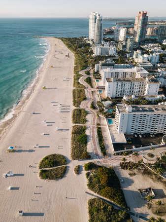 Aerial view of Miami Beach, Florida, USA Standard-Bild