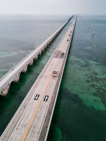 Seven Mile Bridge in Florida, USA