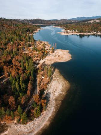 Bass lake in California, USA