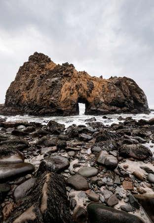 The Keyhole at Pfeiffer Beach Big Sur Standard-Bild
