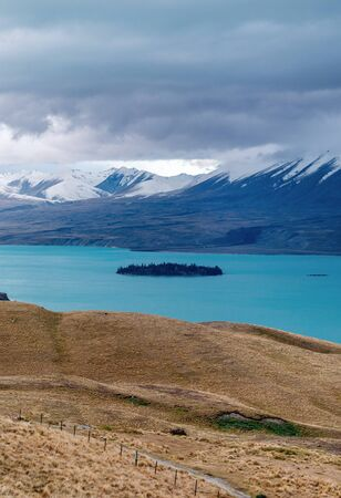 Lake Tekapo, the turquoise water comes from Mt. Cook and Tasman glacier. (South Island, NZ)