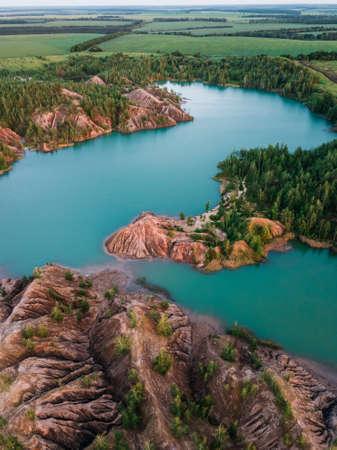 Aerial view of Konduki, Romancevskie gory in Tula Oblast, Russia
