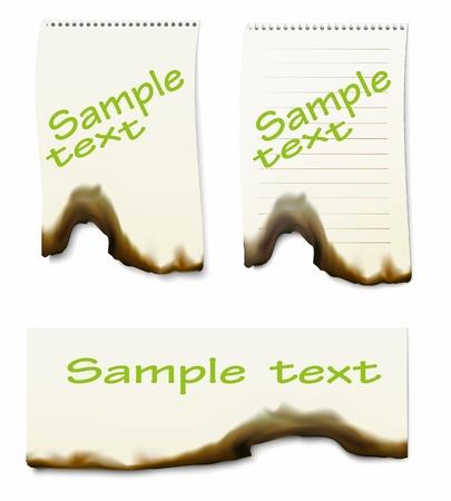 burnt paper, vectoк illustration, clip-art Stock Vector - 20865060