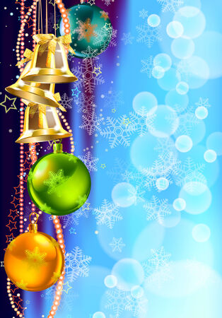 christmas and new year background, vector illustration Stock Vector - 24561615