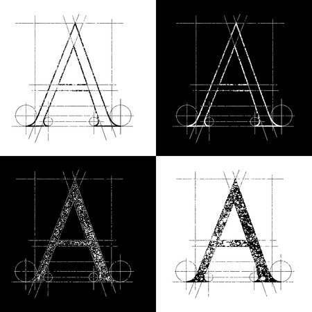 alphabetical order: dekorative symbol A, vector illustration, clip art