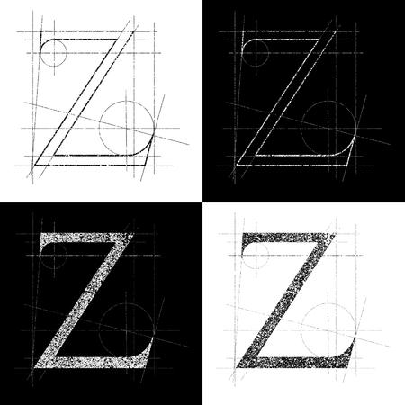 alphabetical order: decorative symbol Z, vector illustration, clip art Illustration