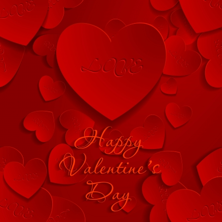valentine's day background, vector illustration Stock Vector - 25244839