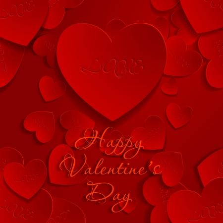 valentine's day background, vector illustration Stock Vector - 25244839